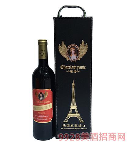 法国原瓶进口娅妮美乐珍藏干红葡萄酒13度750ml