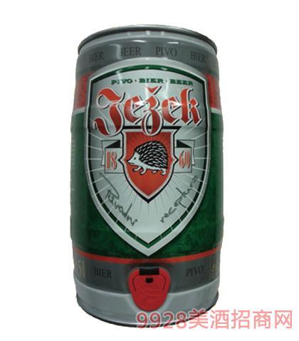捷克刺猬黄桶啤酒11°P