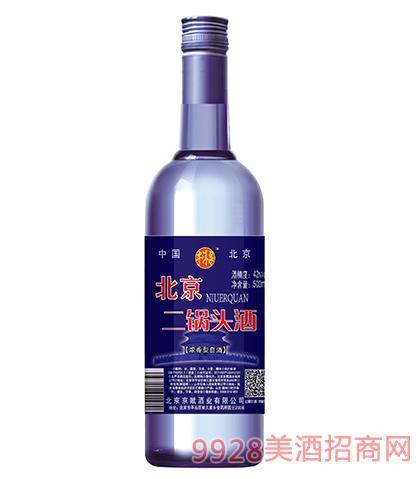 牛洱泉北京二锅头酒42度500ml浓香型全国招商中