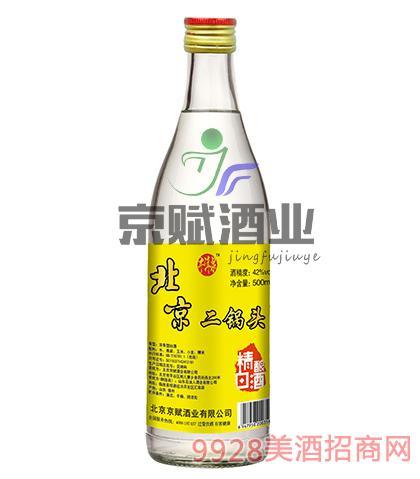 北京二锅头精酿白酒牛洱泉42度500ml浓香型