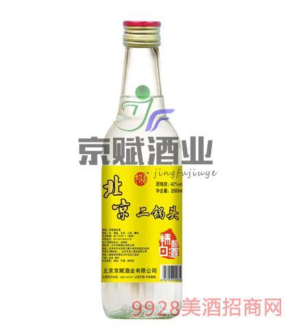 北京二锅头精酿白酒牛洱泉42度250ml浓香型