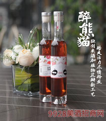 醉熊猫酒微醺国烧酒花花6度200mlx6