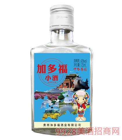 加多福小酒(蓝标)42度125ml浓香型