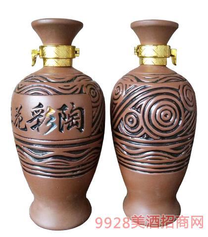 三花彩陶酒