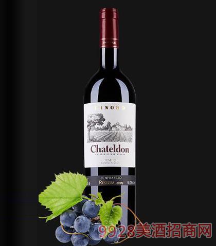 夏德隆品诺德珍藏丹魄红葡萄酒13.5度