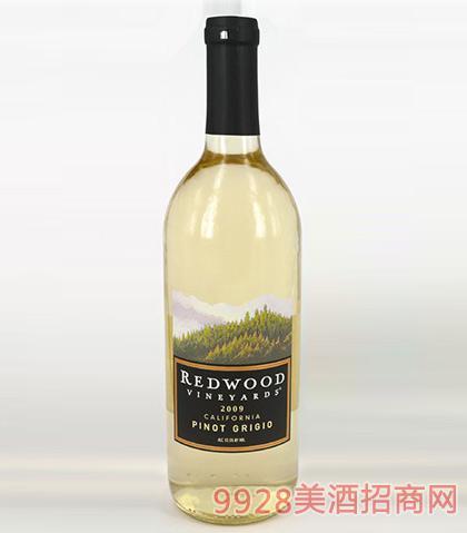 红杉谷灰比诺干白葡萄酒12.5度750ml
