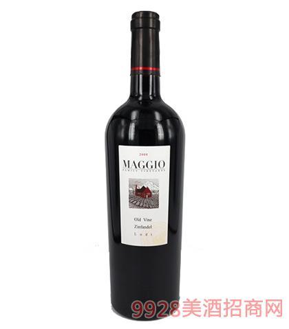 马吉奥仙粉黛干红葡萄酒13度750ml