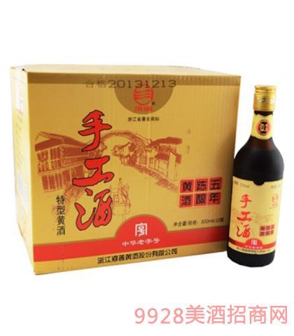 汾湖陈年五年手工酒12度500mlx12