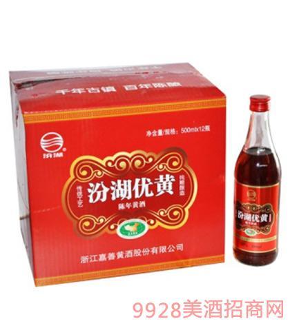 汾湖优黄陈年黄酒12度500mlx12