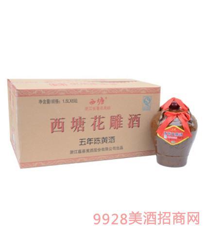 汾湖五年陈西塘花雕酒12度1.5Lx6