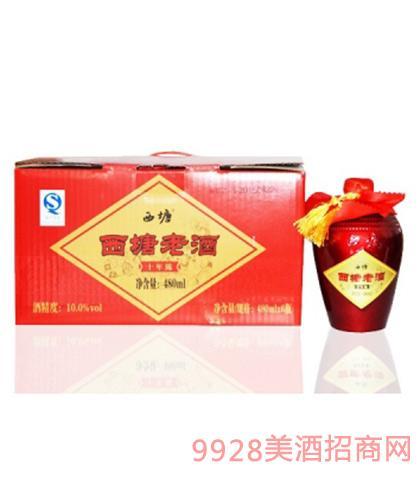 西塘老酒十年陈10度480mlx6