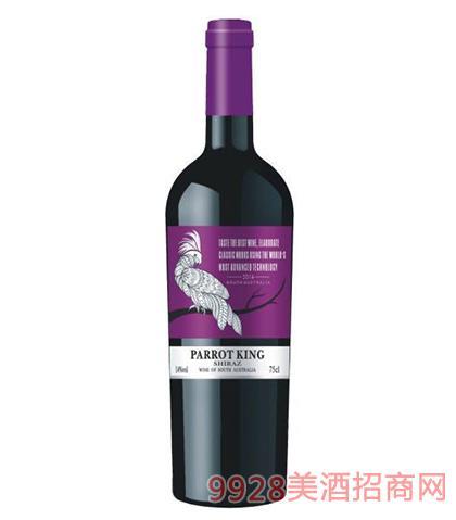 鹦鹉王西拉干红葡萄酒14度750ml