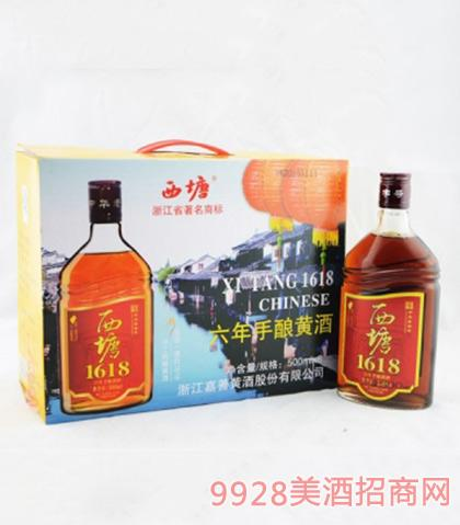 西塘1618黄酒六年手酿10度500mlx6