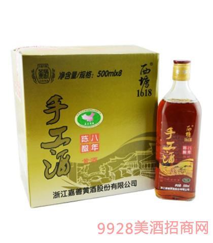 西塘手工黄酒八年陈10度500mlx8