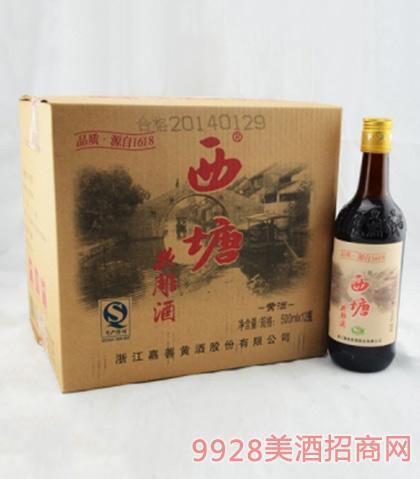 西塘老酒六年花雕酒12度500mlx12
