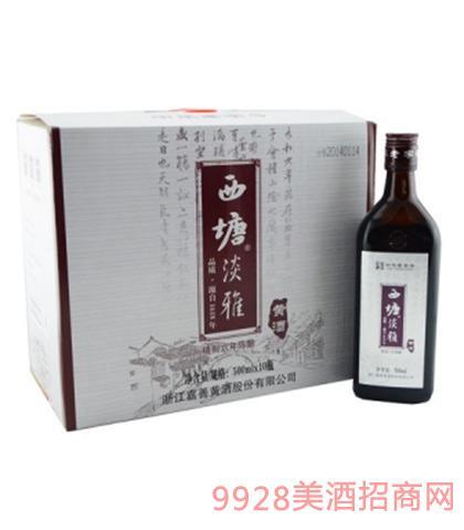 西塘淡雅精制六年陈酿黄酒10度500mlx10