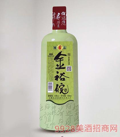 金裕皖酒精品6年42度500ml浓香型白酒