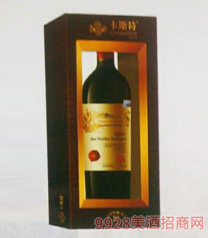 卡斯特戴维斯精选干红葡萄酒12度750ml
