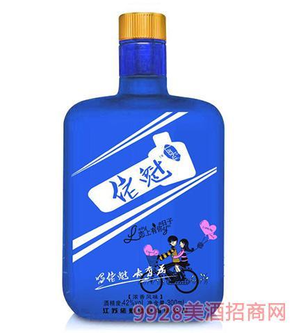佬魁酒(蓝瓶)42度300ml浓香型