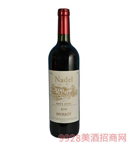 2010法国纳德美乐干红葡萄酒