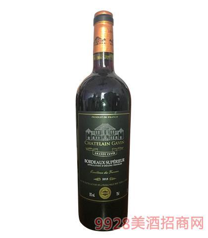 嘉文庄园波尔多干红葡萄酒13度750ml