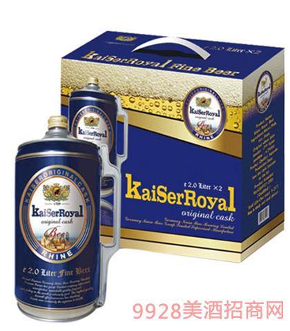 凯撒原樽啤酒2L黄啤