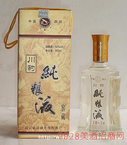 川豹酒纯粮液酒52度500ml浓香型白酒