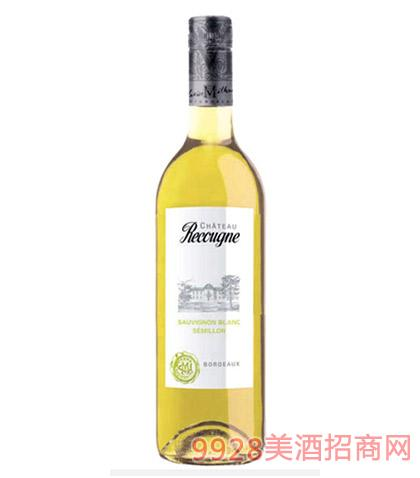 法国波尔多白葡萄酒12度