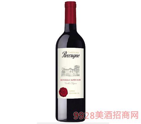 法国波尔多老藤红葡萄酒14.5度