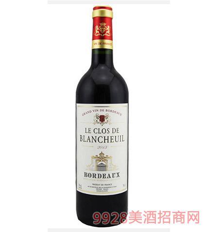 法国波尔多白浪莎庄园干红葡萄酒12度