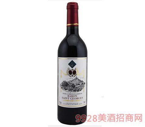 法国波尔多乔治男爵红葡萄酒12度