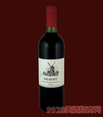 法国原酒尼斯蒂庄园干红葡萄酒风车750ml
