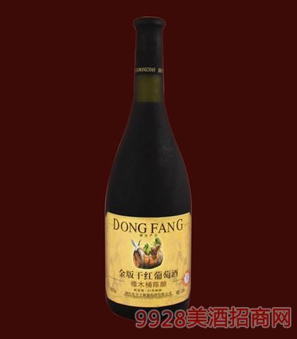东方橡木桶金版干红葡萄酒750ml