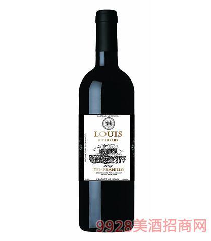 西班牙陆易艾诺安城堡添普兰尼洛红葡萄酒12度750ml 西班牙红酒