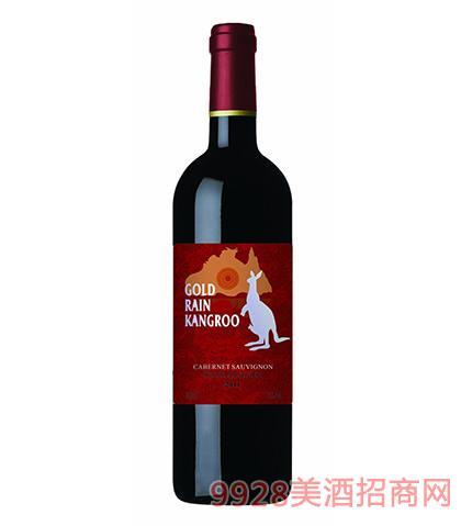 澳洲黄金雨袋鼠赤霞珠干红葡萄酒13度750ml 澳洲红酒