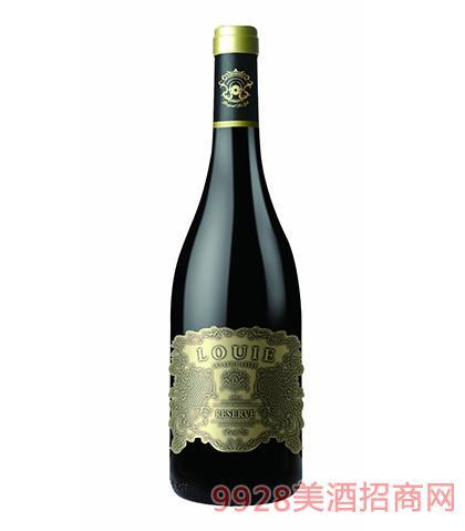 法国陆易艾诺安城堡赤霞珠干红葡萄酒14度750ml 法国红酒
