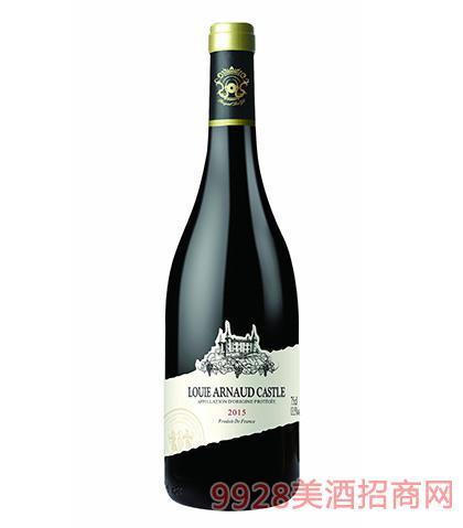 法国陆易艾诺安城堡西拉干红葡萄酒13.5度750ml 法国红酒