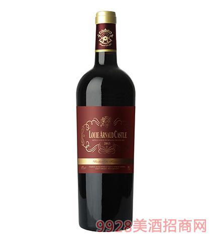 法国陆易艾诺安城堡美乐干红葡萄酒14度750ml 法国红酒