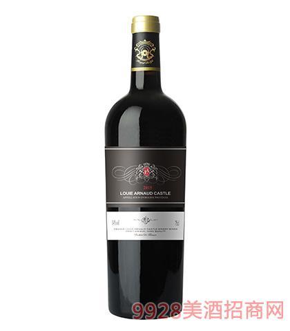 法国陆易艾诺安城堡黑比诺干红葡萄酒14度750ml 法国红酒