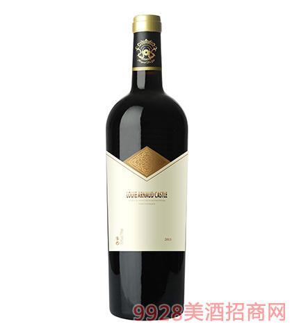 法国陆易艾诺安城堡赤霞珠干红葡萄酒13.5度750ml 法国红酒