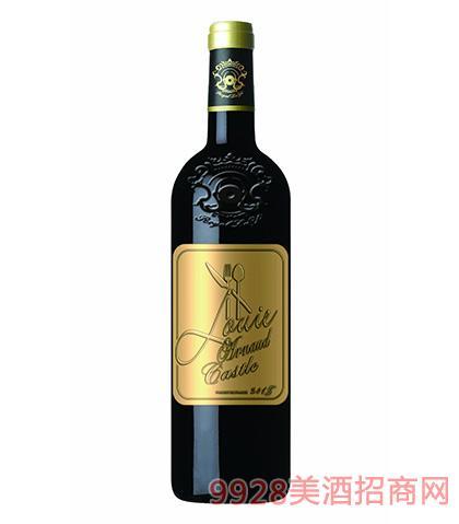 法国陆易艾诺安城堡品丽珠干红葡萄酒14度750ml 法国红酒