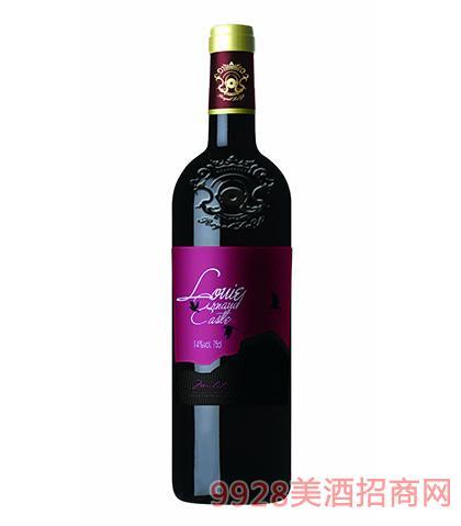 法国陆易艾诺安城堡美乐干红葡萄酒14度750ml
