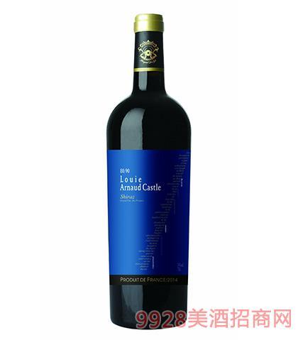 法国陆易艾诺安城堡西拉干红葡萄酒14度750ml 法国红酒
