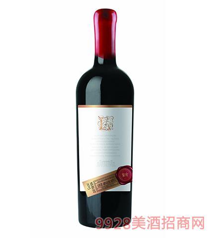 法国陆易艾诺安城堡美乐干红葡萄酒13.5度750ml 法国红酒
