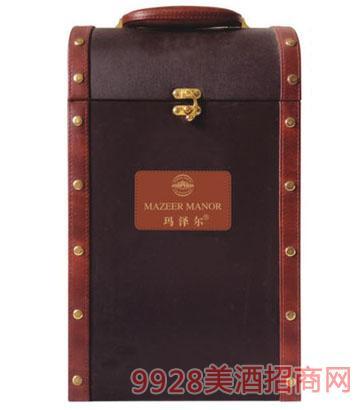 玛泽尔葡萄酒包装双支皮盒