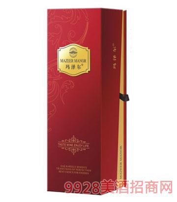 玛泽尔葡萄酒包装单只礼盒红色