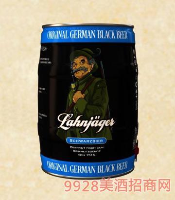 莱恩猎人黑啤酒桶装啤酒11°5L