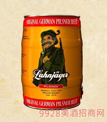 莱恩猎人皮尔森啤酒桶装啤酒11°p5l