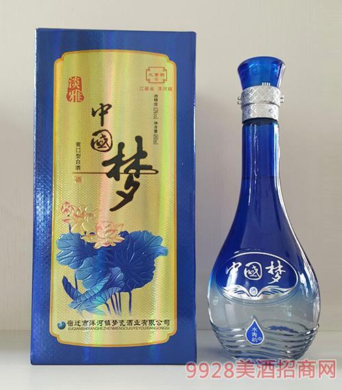 水青韵淡雅中国梦酒42度500ml爽口型白酒洋河镇白酒