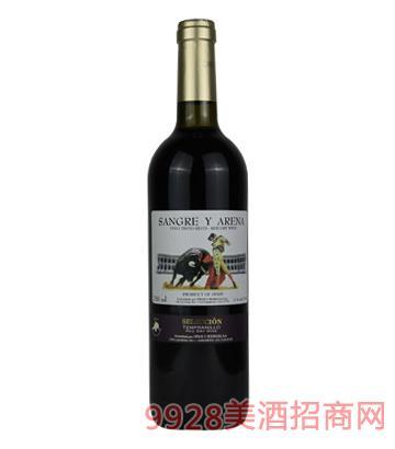 法国阿苪娜斗牛士干红葡萄酒750ml